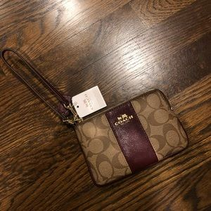brand new authentic coach wristlet with tags!